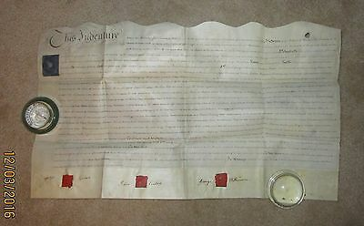 1806  Lease/ Sell Indenture of Mansion, Stables & Land in Lancaster Co. England