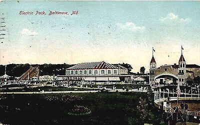 Baltimore Md View Of Electric Park Used 1910
