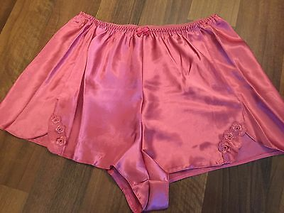 Vintage Style Ultra Shine Satin Like French Knickers Sissy Pink Panties Lingerie