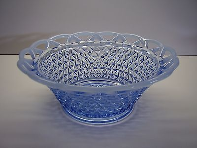"Imperial Katie Katy Blue Lace Edge Opalescent 8 1/2"" Serving Bowl FREE SHIPPING"