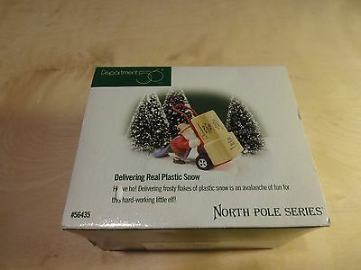 Dept 56 North Pole Series – Delivering Real Plastic Snow - 56435