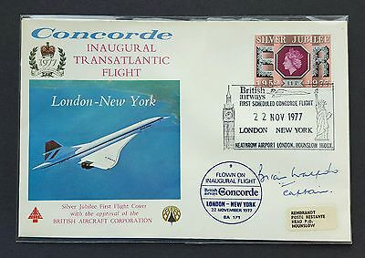 Concorde flown + signed cover