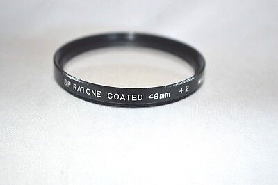 Spiratone 49 mm +2 Close-UP Screw-In Lens Made in Japan (S-60)