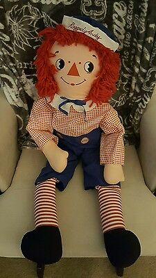 "Vintage Applause 35"" - 36"" Inch  Andy Doll Large From Raggedy Ann"