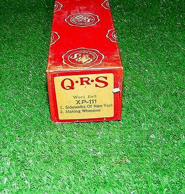 Vintage QRS Player Piano Roll Sidewalks Of NY Making Whoopee XP-111 Ex Cond Rare