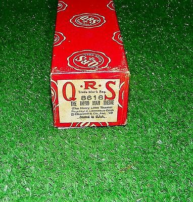 Vintage QRS Player Piano Roll The Third Man Theme (Harry Lime) 8616 Exc Tested