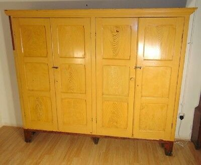 Victorian Pitch Pine Housekeeping Cupboard
