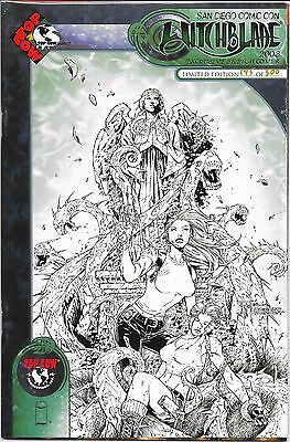 WITCHBLADE # 60 San Diego Comic-con Exclusive Sketch Cover # 145 of 500
