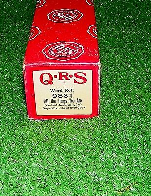 Vintage QRS Player Piano Roll All The Things You Are 9831 RARE Excellent Tested