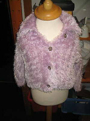 Cute Lilac Fluffy Jacket From Ladybird ~4-5 years~