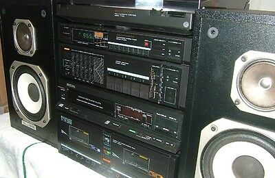 MARANTZ STEREO Hi Fi  STACKING SYSTEM Amp/Twin tape deck/Turntable/CD/Speakers
