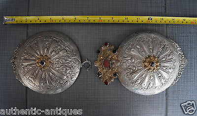 A HUGE! ANTIQUE OTTOMAN Silver Alloy BELT BUCKLE GREECE Macedonian LARGE - RARE!