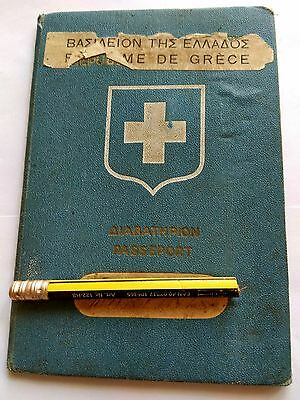 GREECE complete expired TRAVEL DOCUMENT  1939*