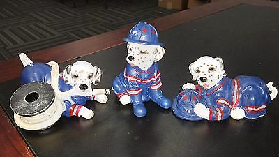 Home Interiors Dalmation Dogs Figurines Fire Station Mascots 36106 Resin Mint