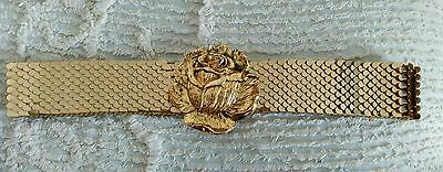 Gold belt vintage 60s 70s wedding Christmas special occasion glamour