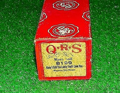 Vintage QRS Piano Roll Have I Told You Lately That I Love You Rod Stewart Ex Con