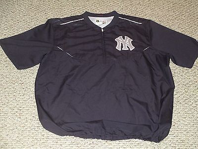 Teixeira #25 size XL 2016 Yankees BP Pullover Game used Steiner MLB hologram
