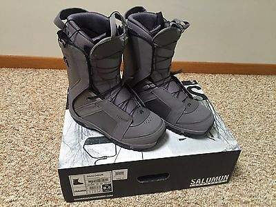 New 2015 Salomon Dialogue Snowboard Boots - Men's - Size 8.5 - Fast Shipping!