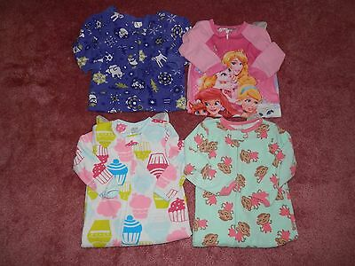 Lot Baby Toddler Girl Fleece Footed Pajamas Blanket Sleepers Size 24 Months