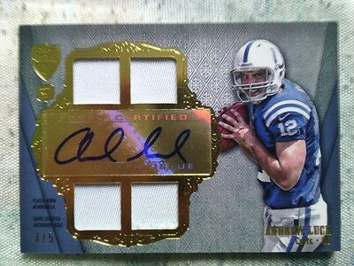 2012 Topps Supreme Andrew Luck Patch RC Auto SSP! 3/5