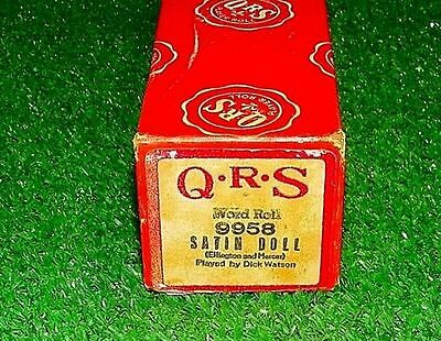 Vintage QRS Piano Roll Satin Doll 9958 Excellent Tested