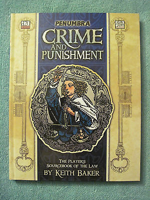 PENUMBRA: CRIME AND PUNISHMENT hardcover rulebook for d20 System Atlas Games D&D