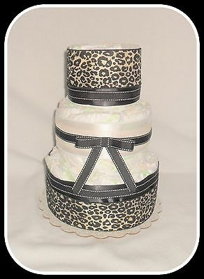 Incredible Neutral Leopard Diaper Cake-Gorgeous Centerpiece!!!