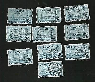 us stamps air mail 10 used C36   [57]