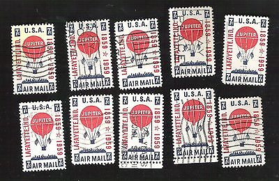 us stamps air mail 10 used C54   [171]