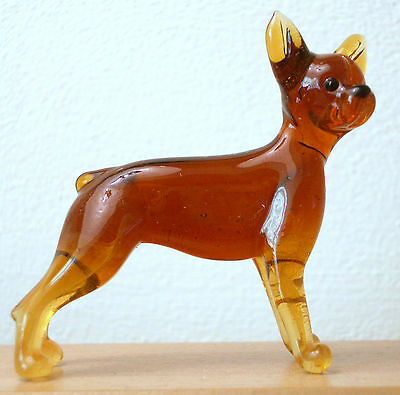 "Hand Blown ""murano"" Glass Collectable Toy Terrier Dog Figurine"