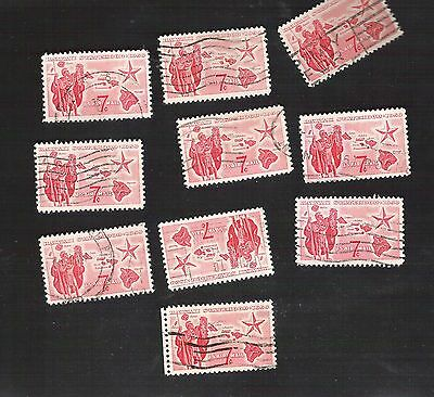 us stamps air mail 10 used C55   [173]