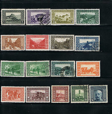 Bosnia stamps - 1906 - Scotts 30-45 -MH/Used