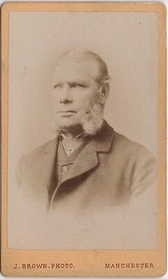 CDV photo Victorian Gentleman Suit Fashion - James Brown of Manchester 1880s