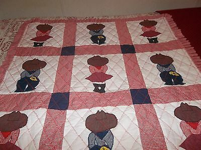 New Crib or Baby Quilt Cow Boy and Cow Girl Theme
