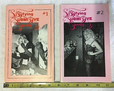 1978 Vintage Trans Books - Sissifying Submissive Sandy - #1 & #2