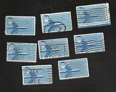 us stamps air mail 8 used C49   [64]