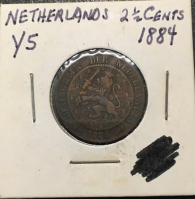 Netherlands - 2 1/2 Cents 1884 - MB6