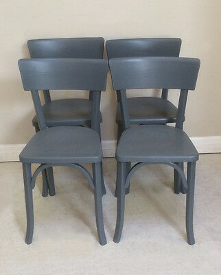 Set of 4 Painted Bistro / Dining Chairs