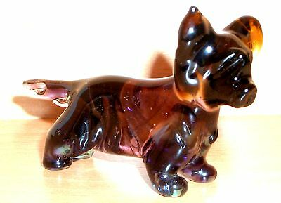 "Hand Blown ""murano"" Glass Collectable Skye Terrier Dog Figurine"