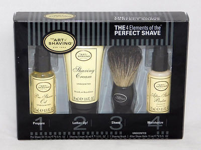 The Art of Shaving 4 Elements of the Perfect Shave Unscented Travel Kit 4 pc Set