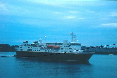 Original Ship/shipping Colour Slide Of A Cruise Vessel Portsmouth+Survey Too.