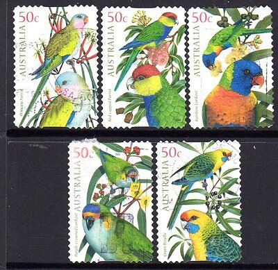 2005 Parrots Group Of 5 Self Adhesive Issues 373