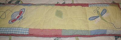 pottery barn kids insects/bugs reversible crib bumper pad