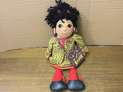 Fab Rare 1999 *rosie* Rag Doll Plush Soft Toy With Htf Bag From *rosie And Jim*