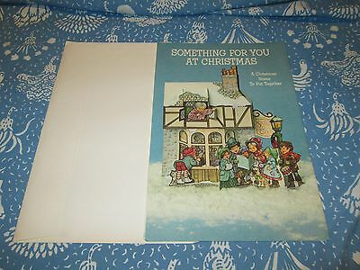 Vintage Forget Me Not Large Christmas Scene Punch Out Card Unused