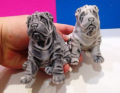 Shar Pei figurines Dogs  marble chips  realistic Souvenirs from Russia