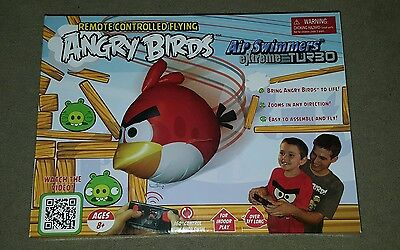 ANGRY BIRDS  Air Swimmers Turbo - Remote Controlled Flying Balloon Toy (New)
