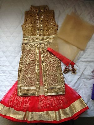 RED Toddler girl Indian/Asian Dress Great for  wedding, party any occasion