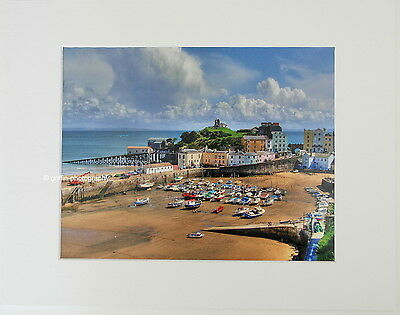 """Tenby Harbour """"Regatta Day"""" Limited Edition Mounted Photographic Print 14x11 8x6"""