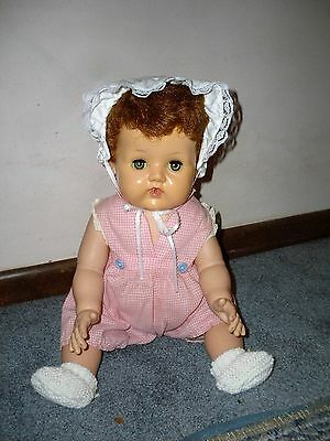 """18"""" American  Character  """"tiny Tears""""  Vintage  Doll + Original Infant Clothes"""